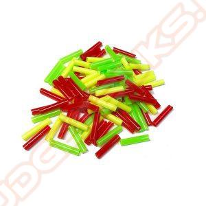 Schietpijpjes Gekleurd Plastic, 500 Stuks