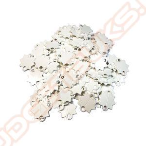 Schietsterren Wit Plastic, 500 Stuks